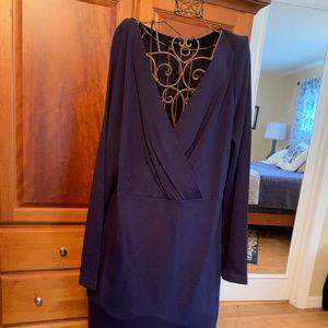 Navy Blue knit Talbots Dress size 14